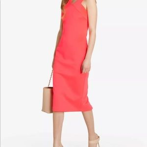 Ted Baker Neoprene crossback midi dress TB 4